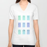 boys V-neck T-shirts featuring Boys Boys Boys by maddsaa