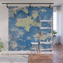 Abstract Blue Wall Mural