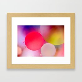 Multicolored Pastel Oil Bubble Water Drops Framed Art Print