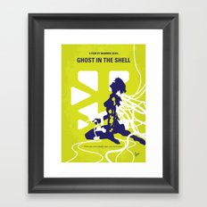No366 My Ghost in the Shell minimal movie poster Framed Art Print