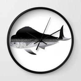 black and white mahi Wall Clock