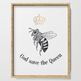 God save the Queen Serving Tray