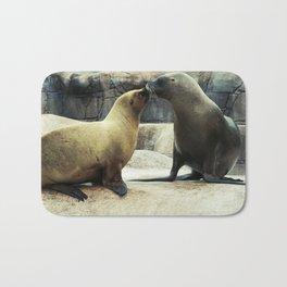 Kissing Sea Lions Bath Mat