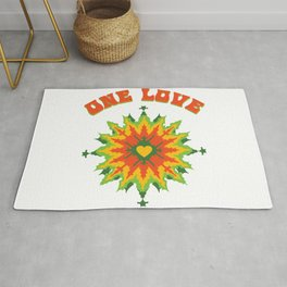 One Love fractal Rug