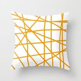 Doodle (Orange & White) Throw Pillow