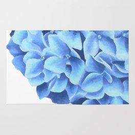 Hydrangea, Big blue flower Rug