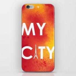 MyCity-Paris-RedYellowA iPhone Skin