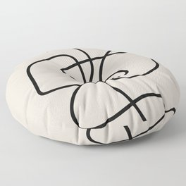 Modern Line Art Floor Pillow