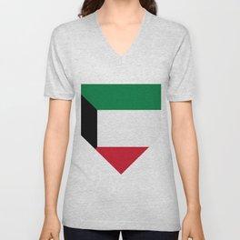 Kuwait flag Unisex V-Neck