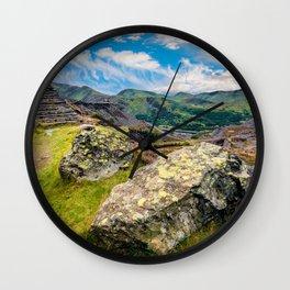 Quarry Steps Snowdonia Wall Clock