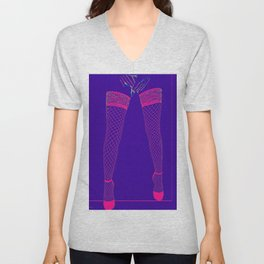 Lovers Legs (purple) Unisex V-Neck
