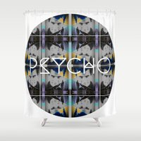 psycho Shower Curtains featuring psycho  by kikkerART
