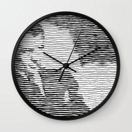Male line illusion Wall Clock
