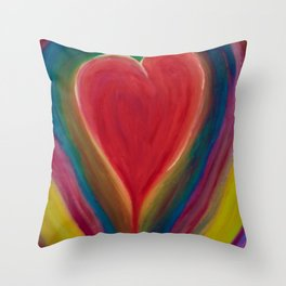 CHEERFUL HEART Throw Pillow