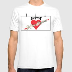 Denton - Home of Happiness Mens Fitted Tee White X-LARGE