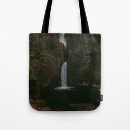 Wahclella Falls x Oregon Waterfall Tote Bag