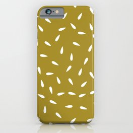 Water Drops on Olive Green Background iPhone Case
