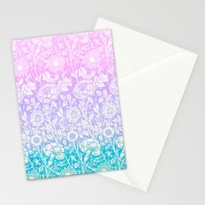 GRADIENT FLOWERS 2 - for iphone Stationery Cards