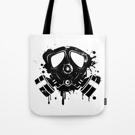 Gas mask graffiti Tote Bag