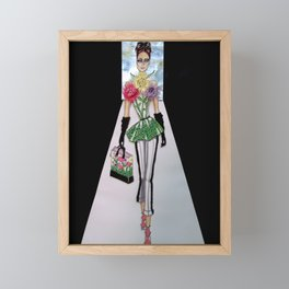 FLORA CATWALK COUTURE ILLUSTRATION BY JAMES THOMAS RYAN Framed Mini Art Print