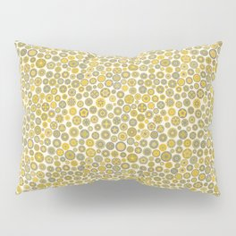 Millefiore Circles - color: Gold, Silver & Bronze Pillow Sham