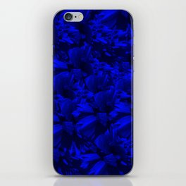 A202 Rich Blue and Black Abstract Design iPhone Skin