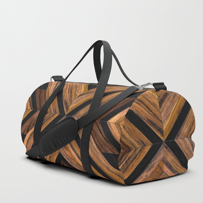 Urban Tribal Pattern 3 - Wood Duffle Bag