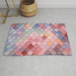 Pink Tiles (Color) Rug