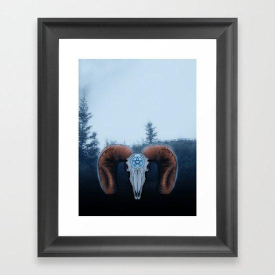 C-3 Horns Framed Art Print