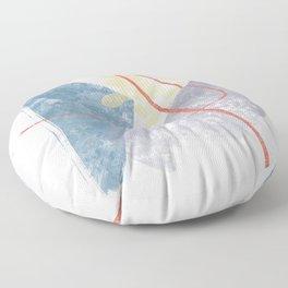 Abstract Art Nature Geometry Floor Pillow