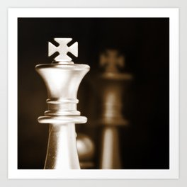 Chess-Sliver King Art Print