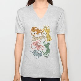 Rainbow Cheetah Unisex V-Neck