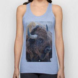 OLena Art Bison the Mighty Beast - Bison das mächtige Tier North American Wildlife Unisex Tank Top