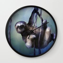 Sloth (Low Poly Cool) Wall Clock