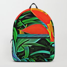 Flower of Enchanted Orange Flow Backpack