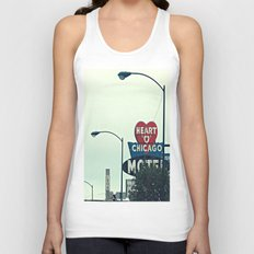 Heart 'O' Chicago Motel (Day) ~ vintage neon sign Unisex Tank Top