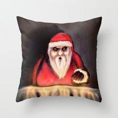 Black Xmas: Santa Claus is Here Throw Pillow