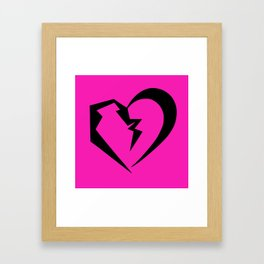 Hot Pink Heartbreak Framed Art Print