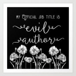 Evil Author Art Print