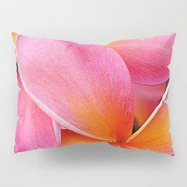 Pink Plumeria Flowers With Lavish Tangerine Accents Pillow Sham