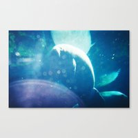 manatee Canvas Prints featuring Manatee by Emily