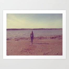 A Day at the Lake Art Print