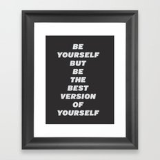 Good Advice Framed Art Print