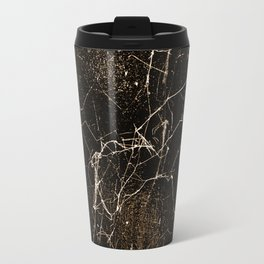 Spider Web Print Grunge Dark Texture Travel Mug