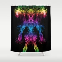 returns Shower Curtains featuring The Scream Returns by Steve Purnell