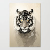 tiger Canvas Prints featuring Tiger by Rafapasta