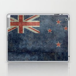 New Zealand Flag - Grungy retro style Laptop & iPad Skin