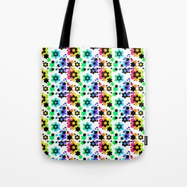 Rainbow Floral Abstract Flower Tote Bag