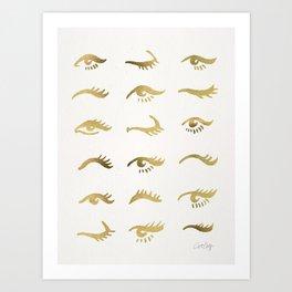 Mascara Envy – Gold Palette Art Print