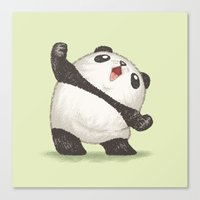 panda Canvas Prints featuring Panda by Toru Sanogawa